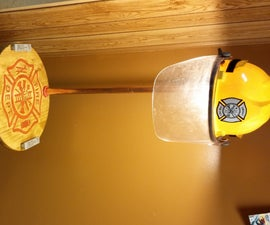 Firefighter Table and Lamp