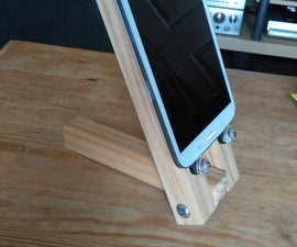 Make Your Own Wooden Tablet Stand
