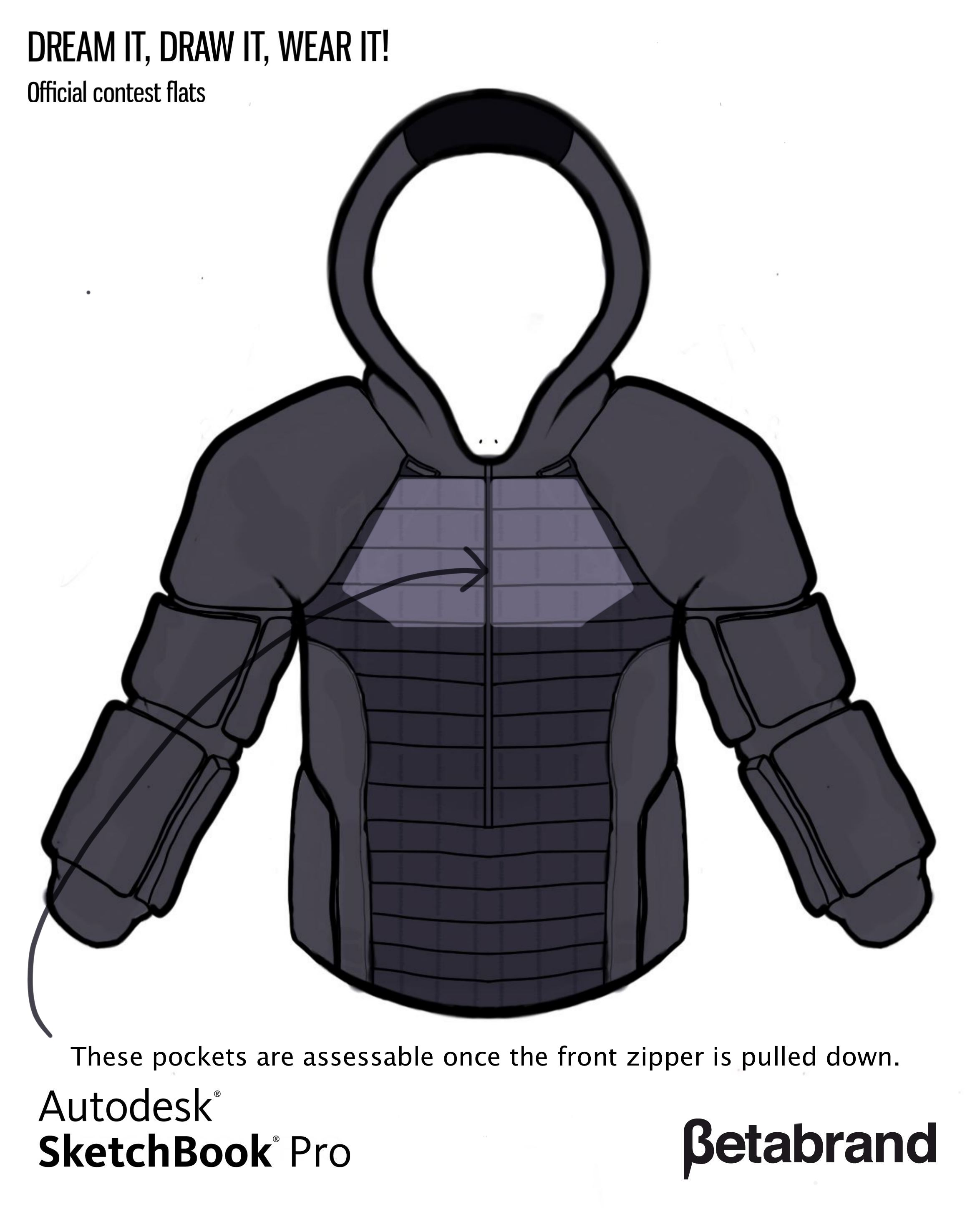 Picture of Detailed Description of Hoodie [Inner Pocket Top]