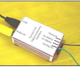PC Sound-Card Signal-Generator-Interface