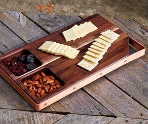 Walnut and Copper Cutting Board / Serving Board!