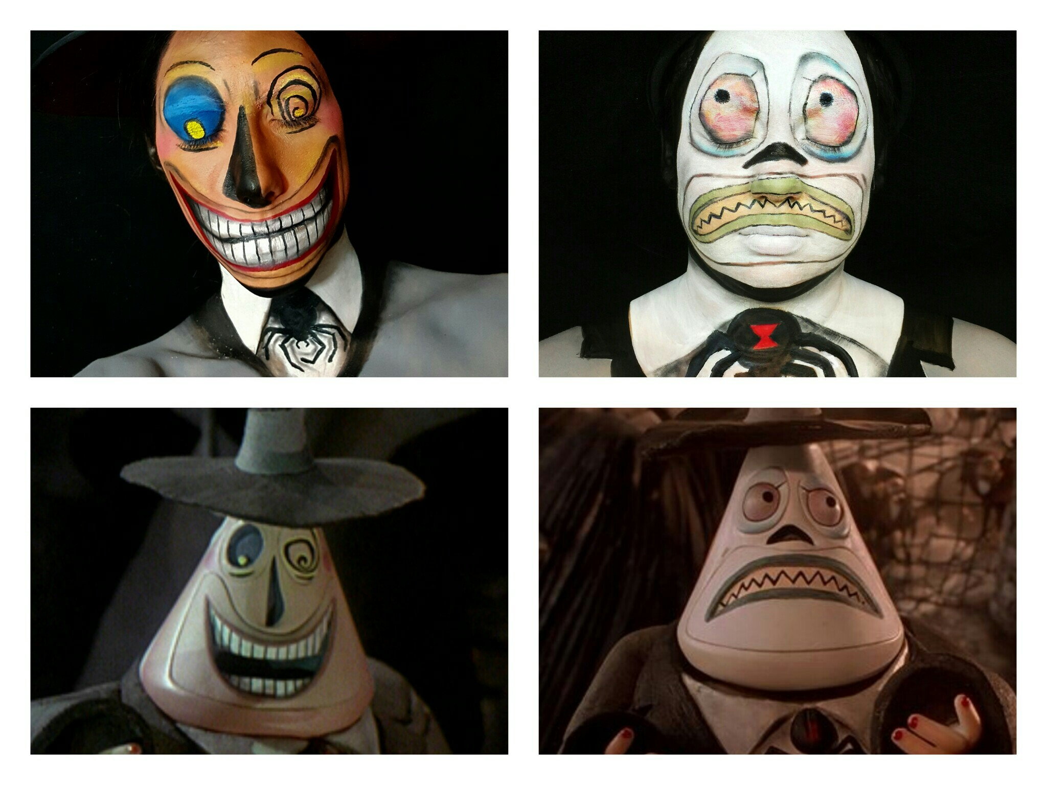 Picture of Nightmare Before Christmas Mayor Happy Side Face Paint