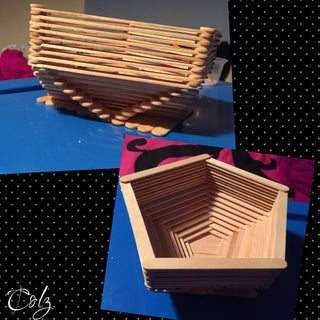 Popsicle Stick Basket