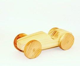 Wooden Toy Racecar