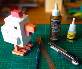 Crossy Road Chicken Made with Papercraft