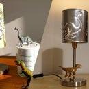 Upcycled Dinosaur Lamp