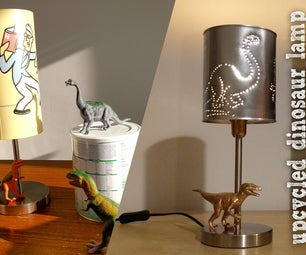 Upcycled Dinosaur Lamp