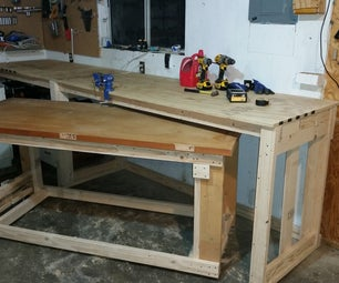2x4 Work Bench With Nested Rolling Assembly Table