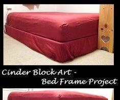 Cinder Block Bed Frame / Storage Bed