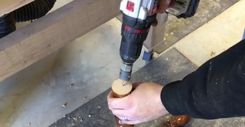 Picture of Cut the Foot Board to Length and Create the Mortise and Tenon