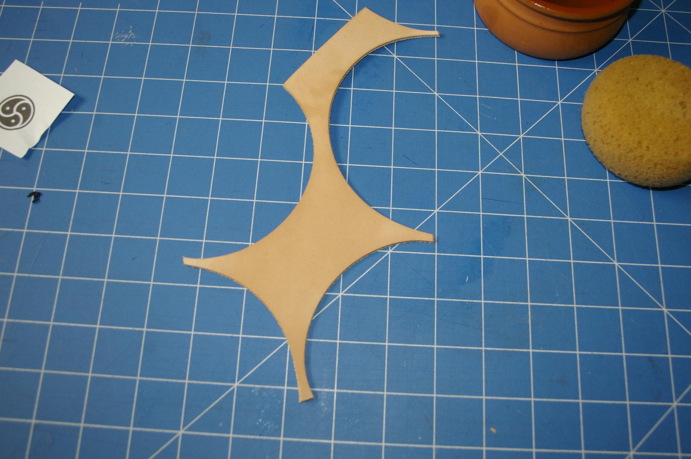 Picture of Casing the Leather and Transfering the Pattern