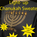 """Light-up Chanukah Sweater With Individual """"candles"""""""