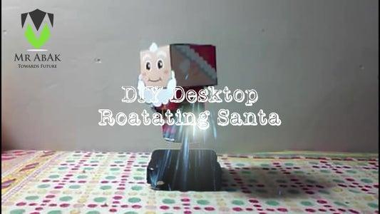 DIY Desktop Rotating Santa Claus