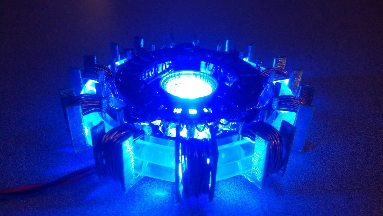 Picture of 3-D Printed-Light Pipe Arc Reactor