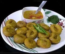 Dal Bhaple/Bati/Bafla/ Bafle Recipe (Rajasthani Cuisine) | Hindi Audio English Subtitles