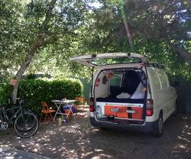 White van camper conversion