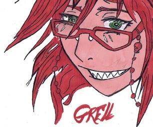 Grell Glasses Chain (black Butler)