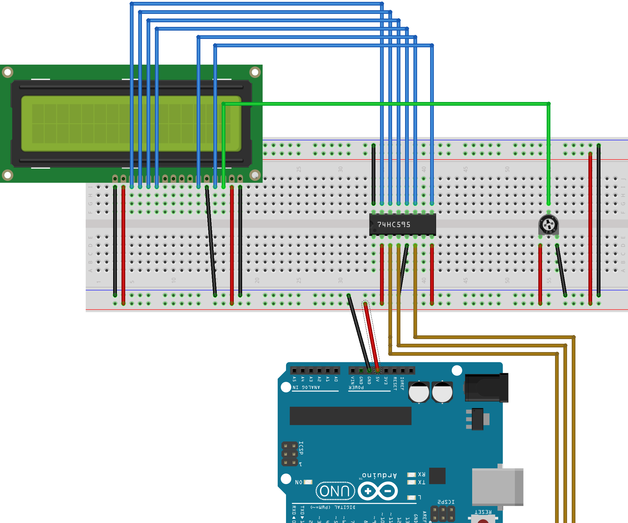 LCD Screen With 74HC595 and Keypad Module: 6 Steps