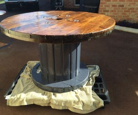 Large Cable Drum Table