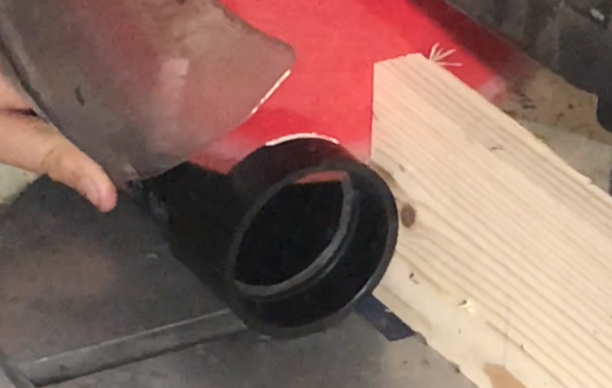 Picture of Cutting the Pvc