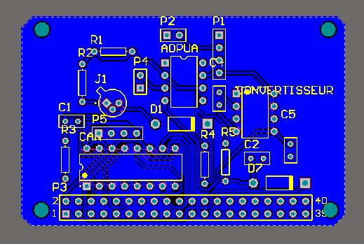 Picture of PCB (Printed Circuit Board)