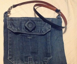 Denim Bag From Thrift Store Materials