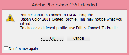 Picture of Convert the Image Mode to CMYK Color and Click OK to Confirm Conversion.