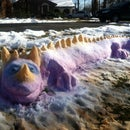 How to Create a Colorful Snow Dragon