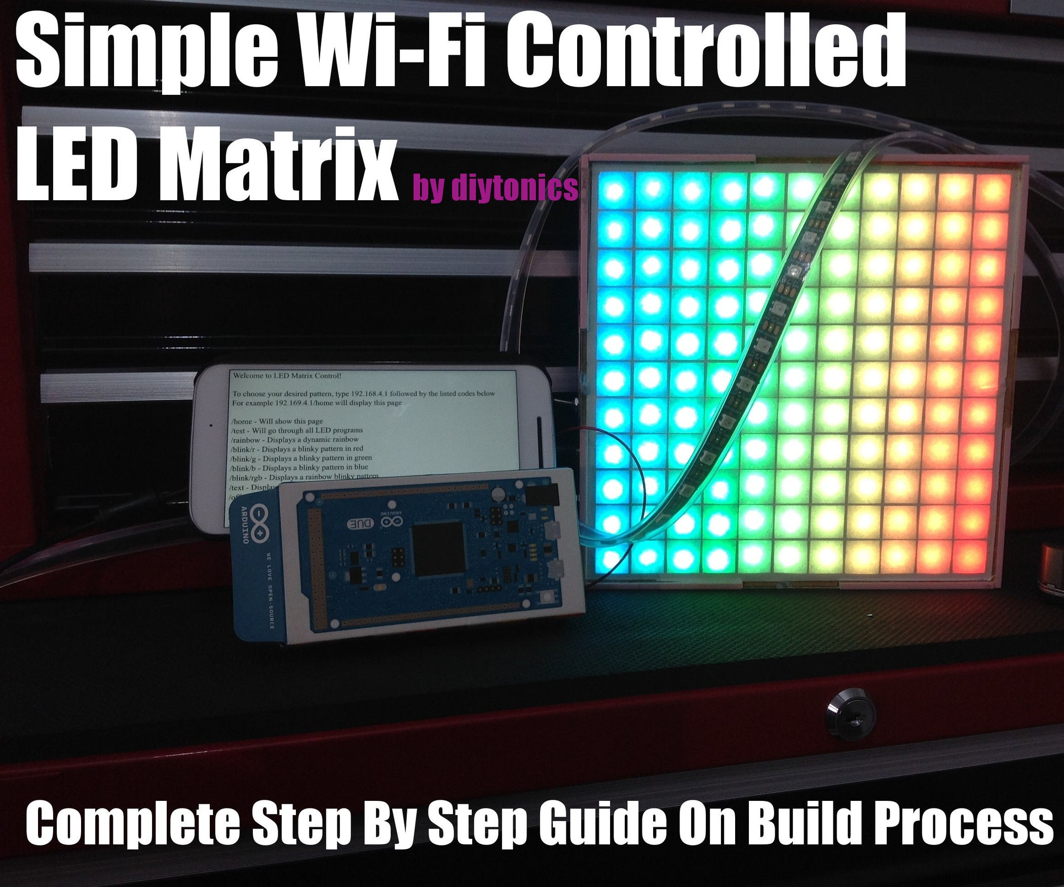 Simple Wi Fi Controlled Led Matrix 25 Steps With Pictures Rgb Strips Strip Circuit Arduino View Original