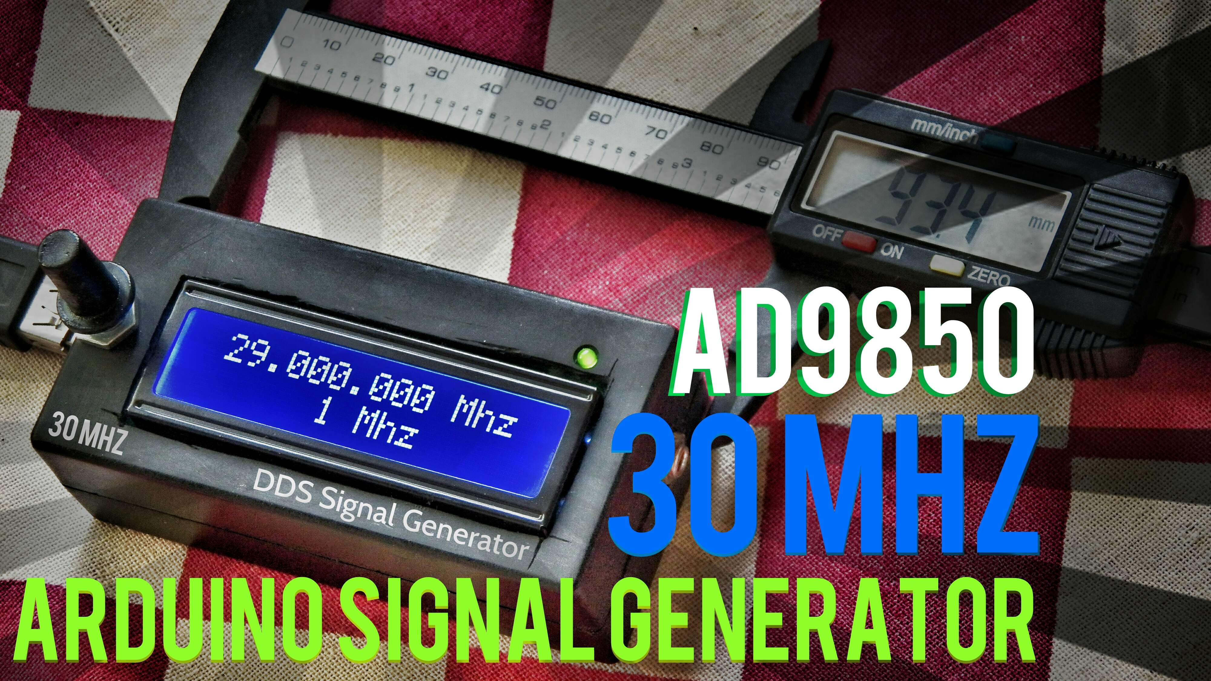Picture of Arduino + AD9850 30MHZ DDS Signal Generator in 12$