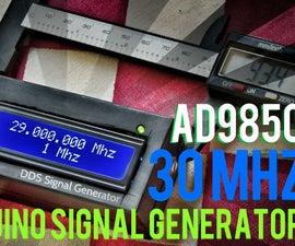 Arduino + AD9850 30MHZ DDS Signal Generator In 12$