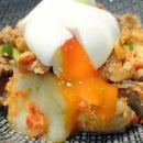 Korean kimchi pork fried rice!