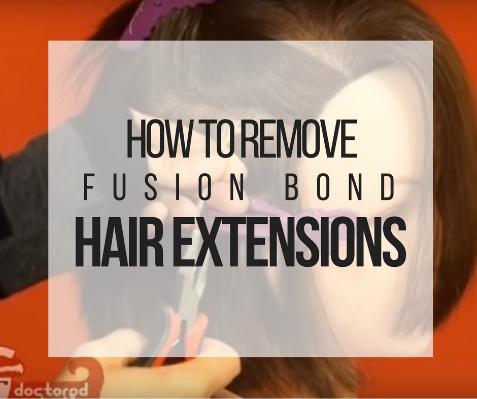 Picture of How to Remove Fusion Bond Hair Extensions