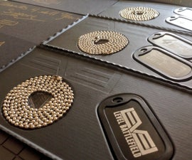 How to package dogtags with vacuumed formed ABS plastic ==Made it at TechShop==