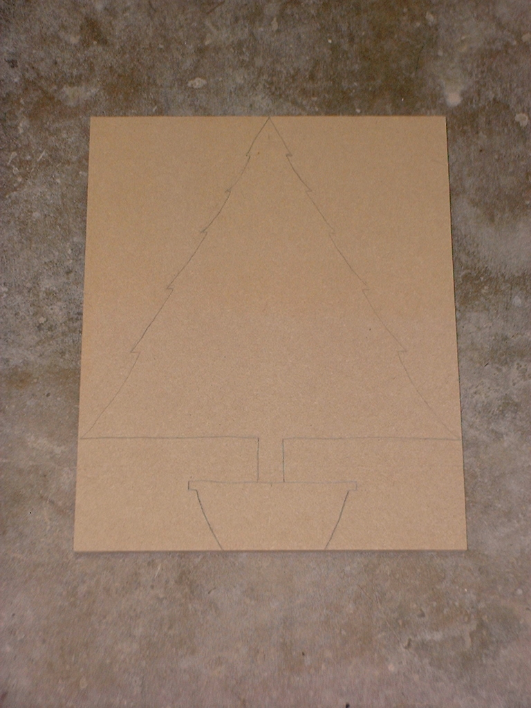 Picture of Draw the Tree Outline on the MDF