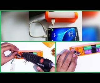 How to Make 12000mAh Powerbank With Super Bright Emergency LED Light | Tutorial