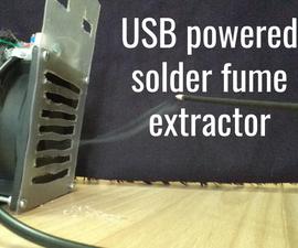 USB Powered Solder Fume Extractor