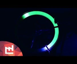 Phosphorescent Bike With Ultraviolet LEDS