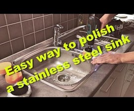 Easy way to polish and remove scratches from a stainless steel sink