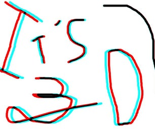 3D Anaglyph Text