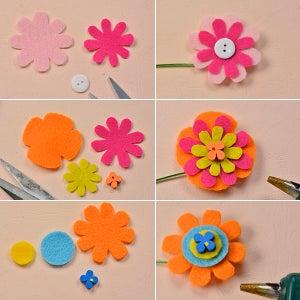Make Three More Felt Flowers