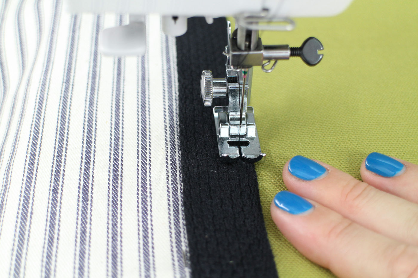 Sew on the Handles
