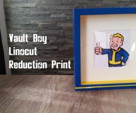 Fallout Linocut Reduction Print
