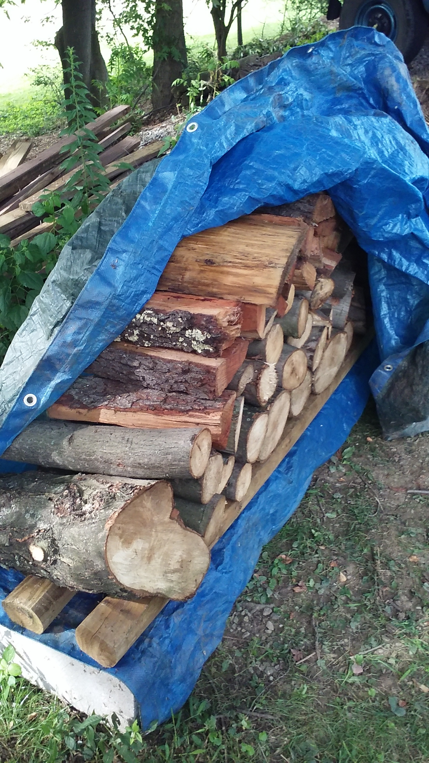 Picture of Simple, Strong, and Inexpensive Outdoor Firewood Storage