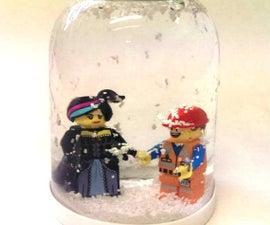 Lego Movie Nutella Jar Snow Globe