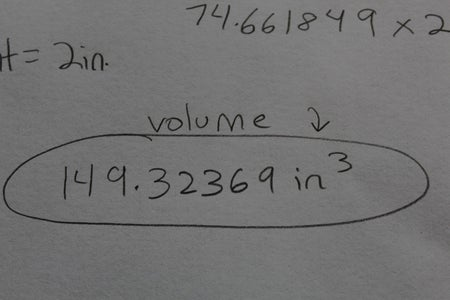 Multiply 74.661849 X 2 to Get the Whole Volume of the Pie
