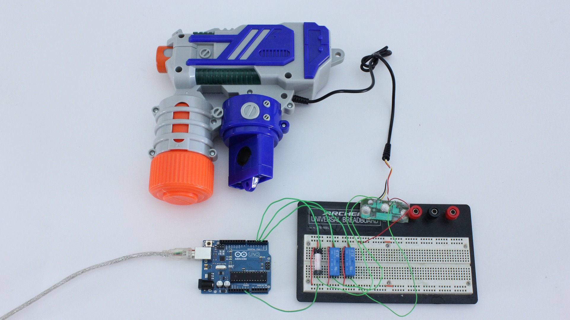Picture of Prototype the Relay Circuit on a Breadboard