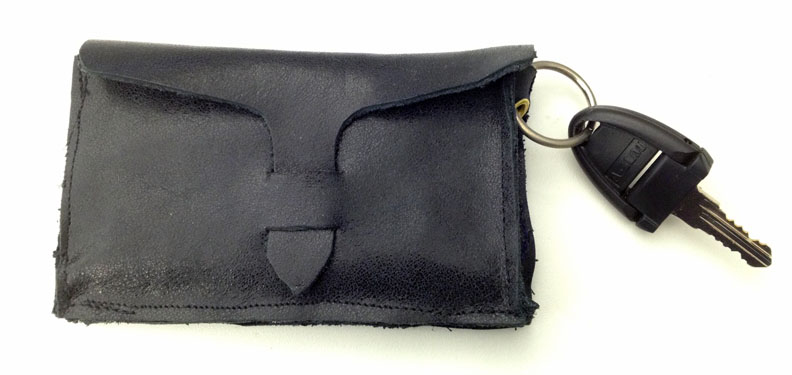Picture of Leather Business Card Case W/ Keyring & Outside Pckt