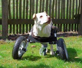 Adaptable Wheelchair for handicapped Dogs