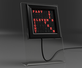 VERBIS - Desktop 8x8 RGB LED Matrix Word Clock